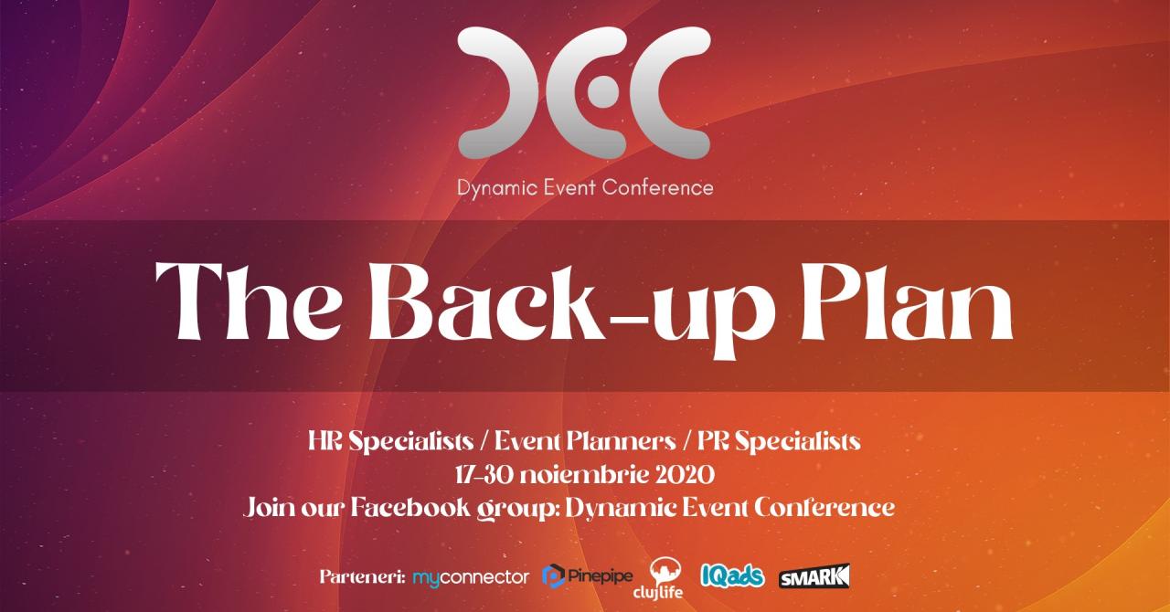 Planul de rezervă: discuții utile destinate organizatorilor de evenimente