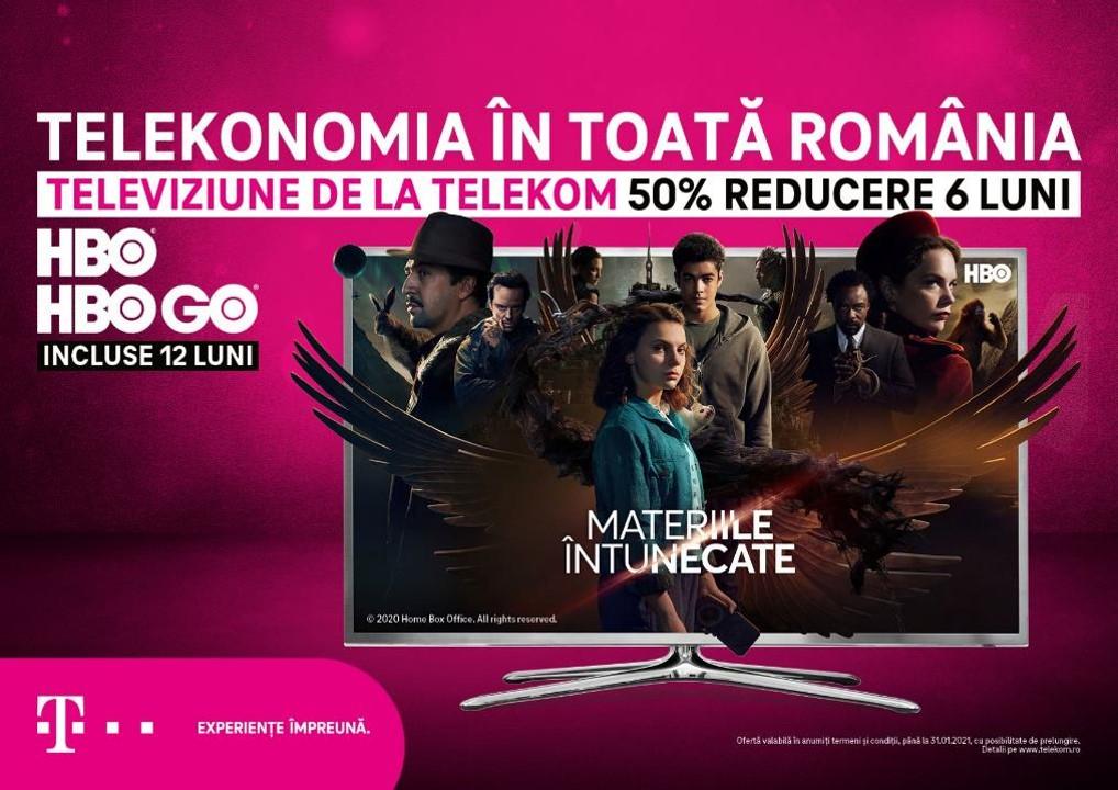 Oferta de sărbători Telekom-reduceri de 50% la abonamente, HBO și HBO GO gratuit