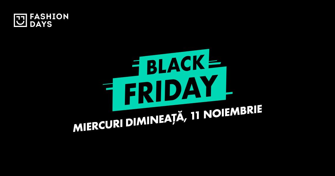 Black Friday 2020 la Fashion Days pe 11-13 noiembrie: stoc de 200 mil. lei