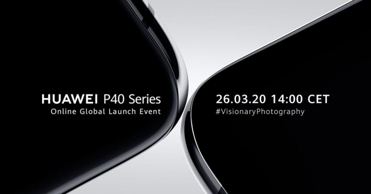 Lansare Huawei P40: Unde poți urmări prezentarea noilor smartphone-uri