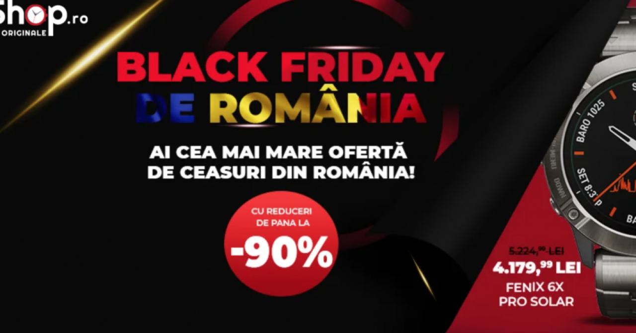 Black Friday la WatchShop.ro: weekend cu reduceri la ceasuri premium