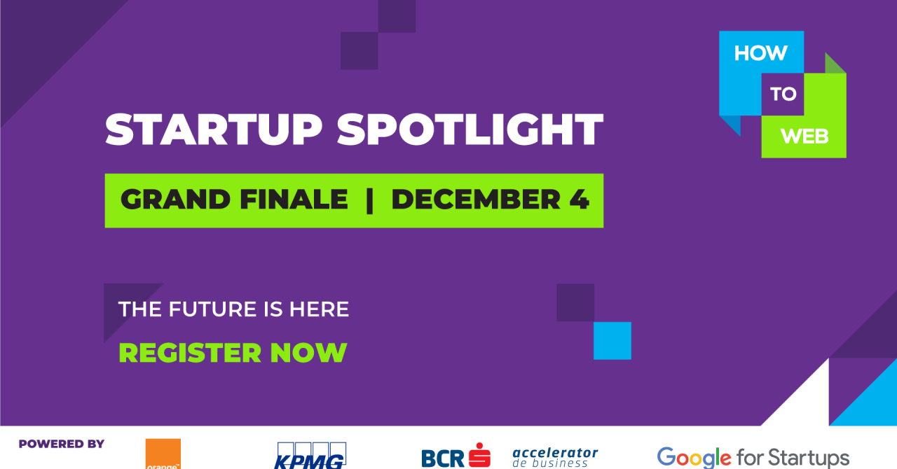 Startup Spotlight: finala unde un startup poate câștiga 225.000 de euro