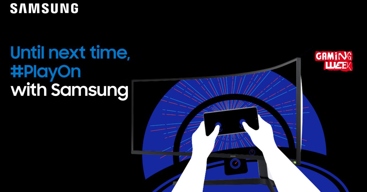 Bucharest Gaming Week: cu ce ne îmbie Samsung la standul virtual în weekend