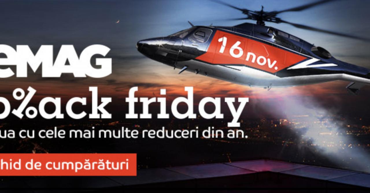 Black Friday la eMAG - ghidul reducerilor pentru 16 noiembrie