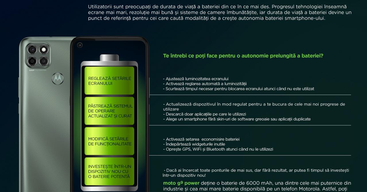 Motorola: Sfaturi pentru a prelungi autonomia smartphone-ului