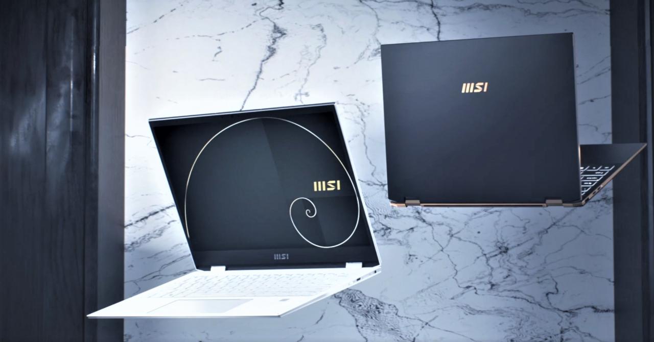 MSI lansează noile laptopuri 2-în-1 din seria Summit cu design Golden Ratio