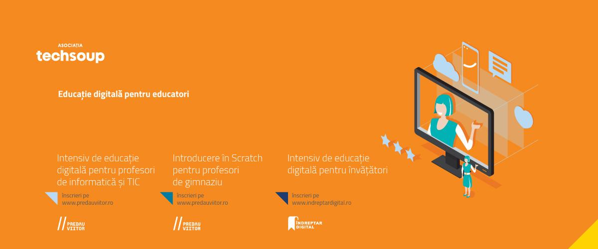 Techsoup: cursuri online gratuite de educație digitală pentru profesori și elevi