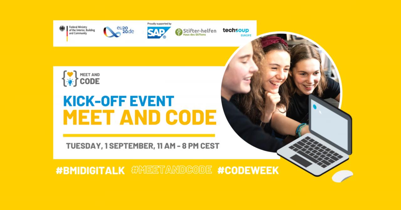 Meet and Code 2020: 2 luni de evenimente online de programare și tehnologie