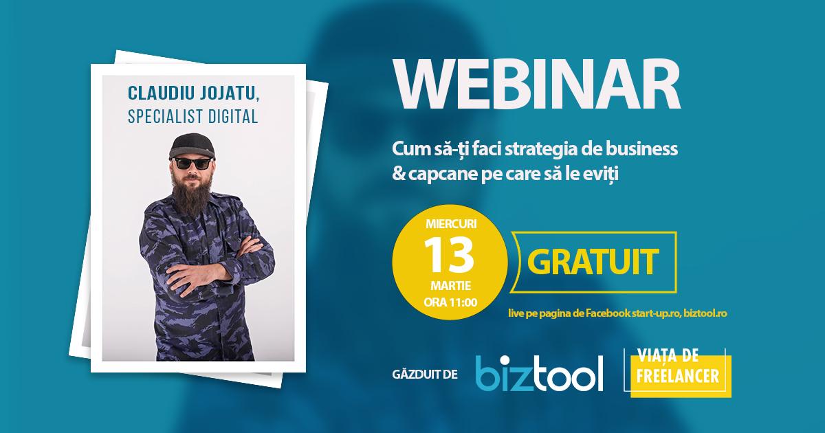 BizTool.ro: webinar gratuit despre cum să-ți construiești o afacere