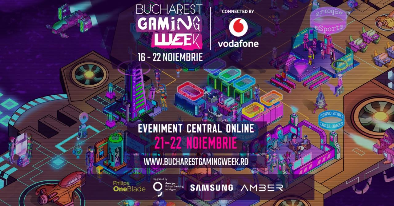 Bucharest Gaming Week, evenimentul gamerilor, are loc între 16 și 22 noiembrie