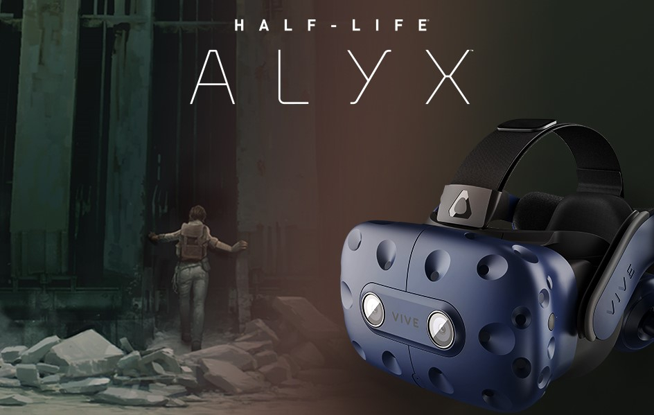 HTC Vive Pro Full Kit vine la pachet cu Half Life: Alyx