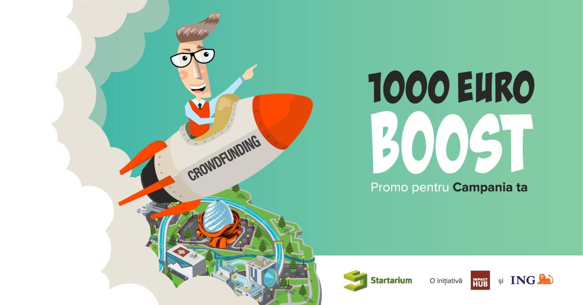 Crowdfunding cu bani de pornire - Startarium îți dă câte 1.000 de euro