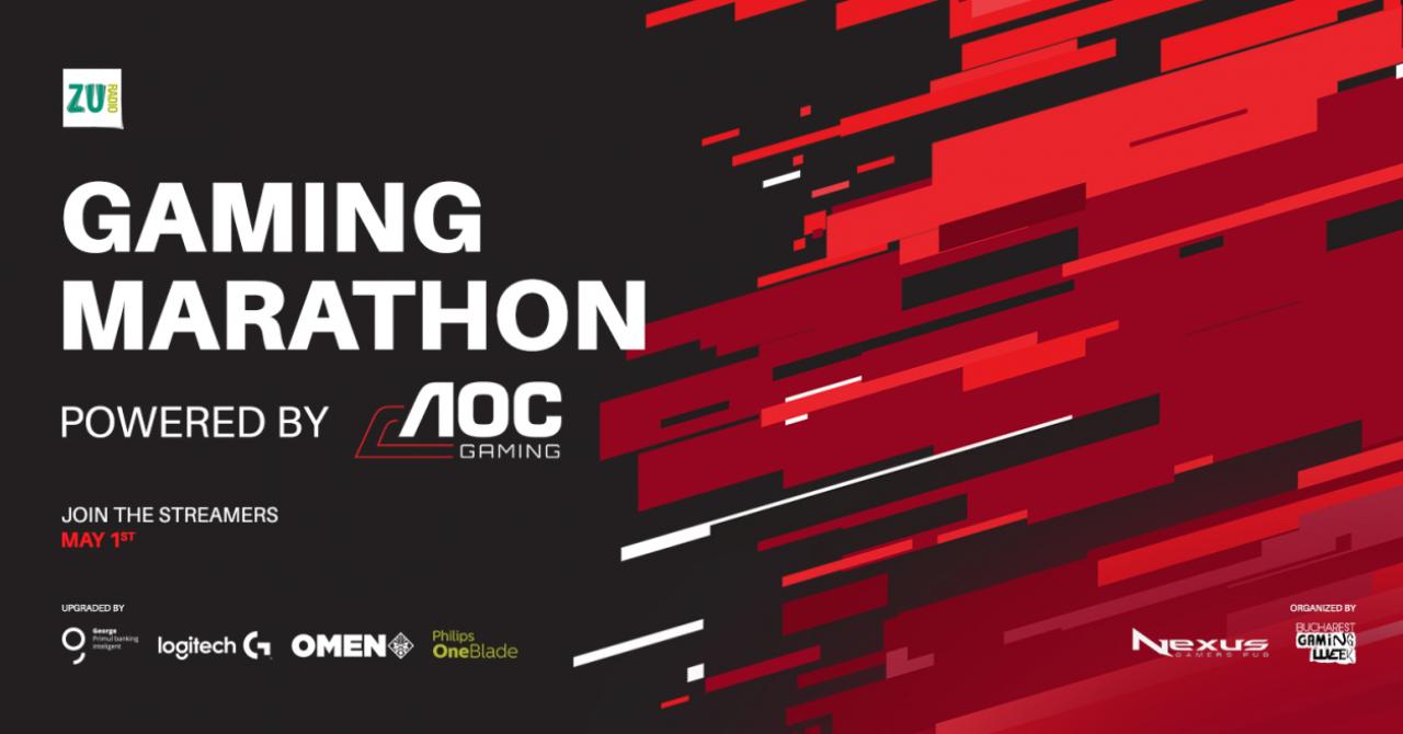 Gaming Marathon de 1 mai: 20 de streameri, 200.000 de participanți așteptați