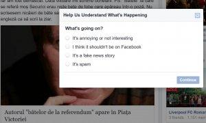 Facebook îți permite să raportezi site-urile despre care crezi că publică informații false (Fake News)