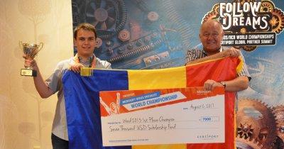 Elev român, campion mondial premiat de Microsoft