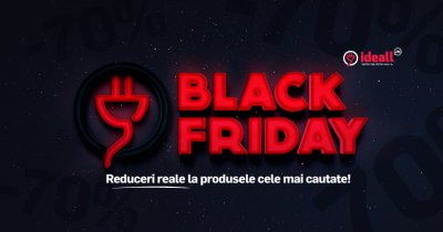 Black Friday la Ideall.ro: electrocasnice ieftine