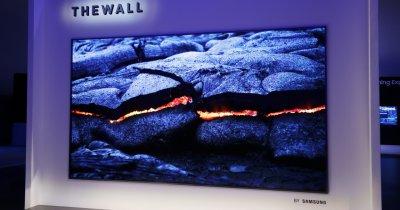 Samsung The Wall este primul televizor modular MicroLED și e enorm