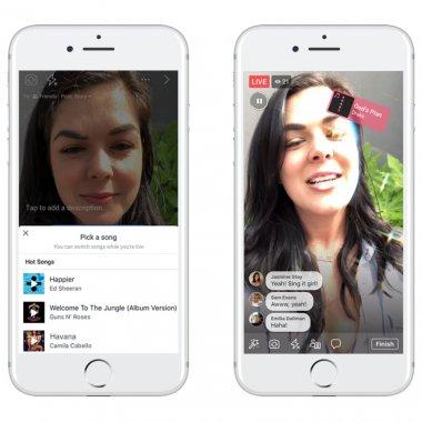 Live-uri Facebook pe muzică, copiate după modelul Musical.ly
