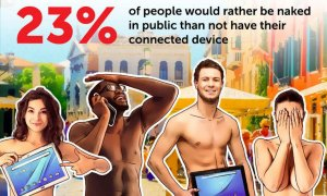 Mai bine-n lume dezbrăcat, decât fără un dispozitiv la net conectat