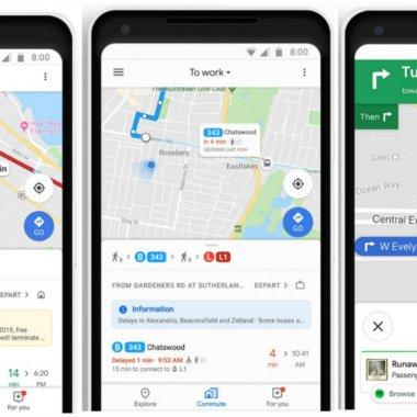 Noile opțiuni Google Maps ajută navetiștii să-și planifice călătoria