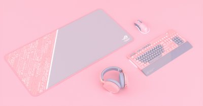 Asus ROG lansează o linie de accesorii roz pentru gaming