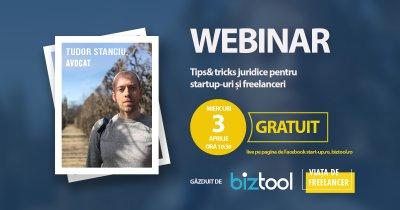 BizTool.ro: webinar gratuit despre chestiuni juridice pentru startups