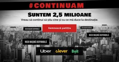 Coaliție Uber, Bolt & Clever Taxi după ce au rămas fără 25% din șoferi