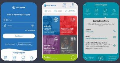 Apa Nova și-a lansat aplicație mobilă și o platformă online nouă