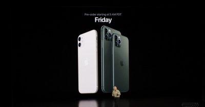 Lansare iPhone 11 Pro, primul telefon Apple cu trei camere foto