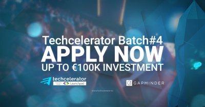 Finanțări de 100.000 euro în Techcelerator. Înscrierile sunt deschise