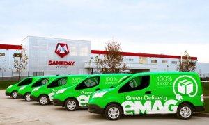 eMAG lansează un serviciu de livrări cu mașini electrice