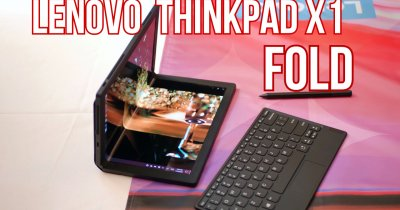 HANDS ON Lenovo Thinkpad X1 Fold - cum este primul PC pliabil din lume