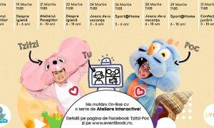 Coronavirus | Ajutor pentru părinți: ateliere pentru copii realizate online