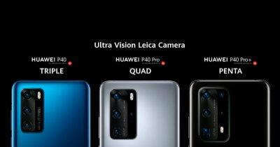 Huawei P40 Pro, P40 Pro + și P40, anunțate oficial: monștri foto/video