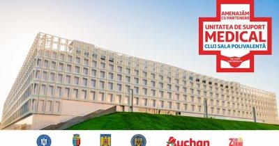 Auchan transformă Sala Polivalentă din Cluj în centru de suport Covid-19