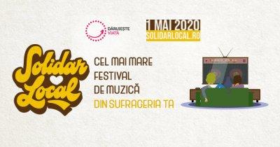 SolidarLocal, festival de muzică în sufrageria ta: donează pentru spitale
