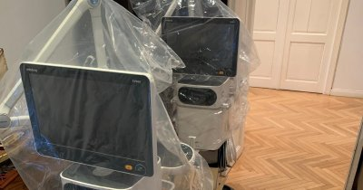 Două ventilatoare mobile, ce vor ajuta medicii să salveze vieți, au ajuns în România