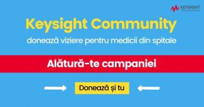 Keysight România donează 5000 de viziere medicilor din spitale