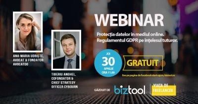 BizTool.ro, webinar gratuit: protecția datelor personale în mediul online