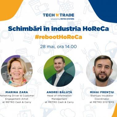 Tech'n Trade sprijină industria ospitalității prin #rebootHoReCa