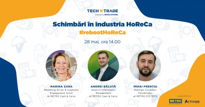 Tech'n Trade sprijină industria ospitalității prin #rebootHoReCa