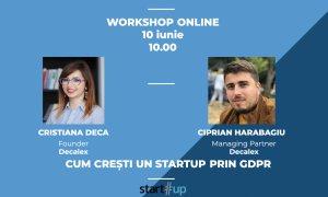 VIDEO Workshop - Cum crești startup-ul prin privacy și GDPR