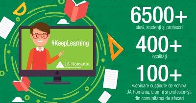 "6.500 de elevi au participat la ""școala"" online organizată de Junior Achievement"