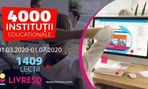 Profesori din peste 4000 de școli din România dezvoltă lecții online pe LIVRESQ
