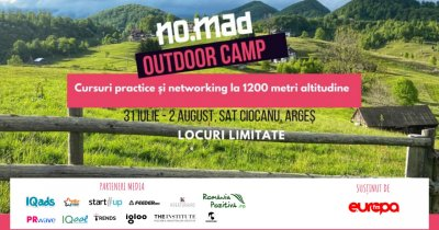 NO.MAD Outdoor Camp: cursuri practice și networking informal pentru freelanceri