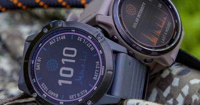 Smartwatch-urile Garmin se încarcă de la soare