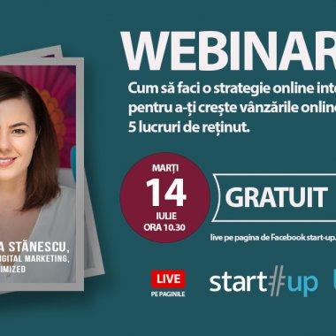 BizTool.ro, webinar gratuit: strategie online integrată pentru vânzări mai mari