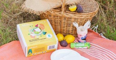 Biodeck, românii care fac ambalaje din plante lansează un set de picnic