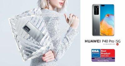 Huawei câștigă două premii EISA cu HUAWEI P40 Pro și HUAWEI WATCH GT 2