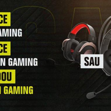 Căști de gaming cadou la achiziții de pe PC Garage